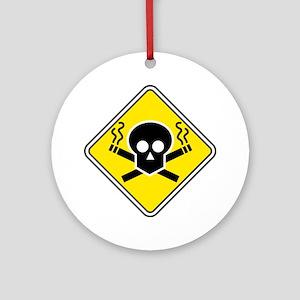 Smoking Warning Ornament (Round)