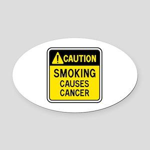 Smoking Warning Oval Car Magnet