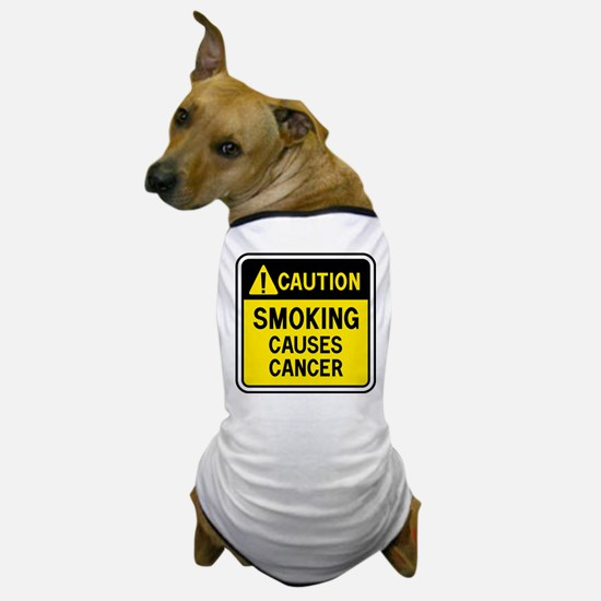 Smoking Warning Dog T-Shirt