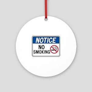 Notice No Smoking Ornament (Round)