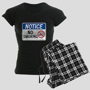 Notice No Smoking Women's Dark Pajamas