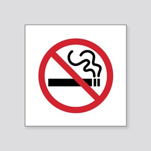 "No Smoking Square Sticker 3"" x 3"""