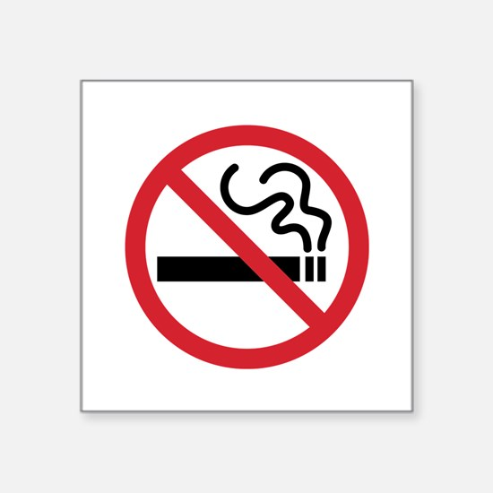 "No Smoking Square Sticker 3"" x 3"""