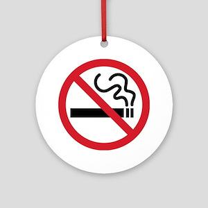 No Smoking Ornament (Round)