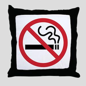 No Smoking Throw Pillow