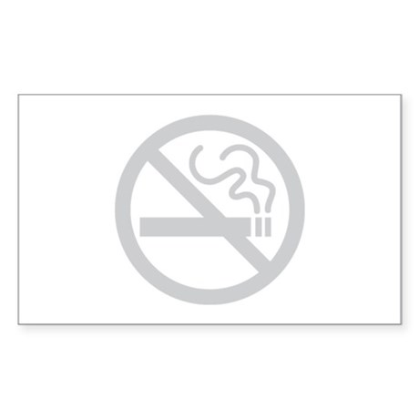 No Smoking Sticker (Rectangle)