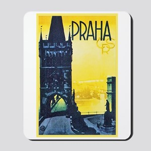 Prague Travel Poster 1 Mousepad