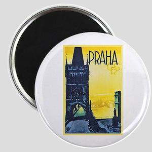 Prague Travel Poster 1 Magnet