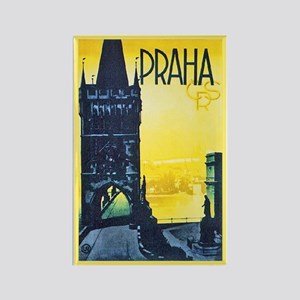 Prague Travel Poster 1 Rectangle Magnet