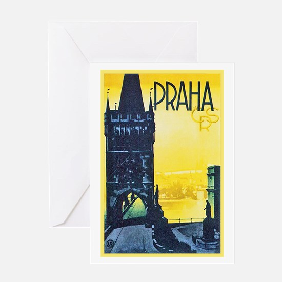 Prague Travel Poster 1 Greeting Card