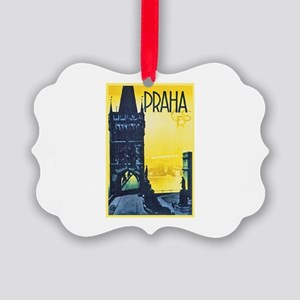 Prague Travel Poster 1 Picture Ornament