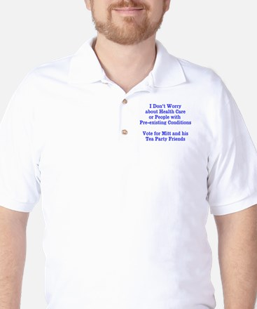 Pre-existing health conditions Golf Shirt