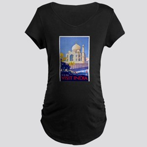India Travel Poster 13 Maternity Dark T-Shirt