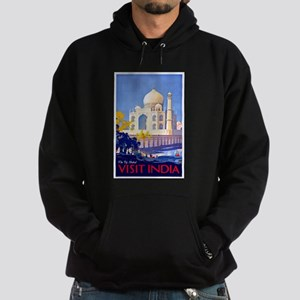 India Travel Poster 13 Hoodie (dark)