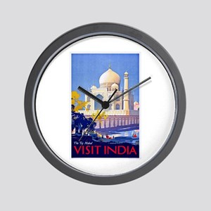 India Travel Poster 13 Wall Clock