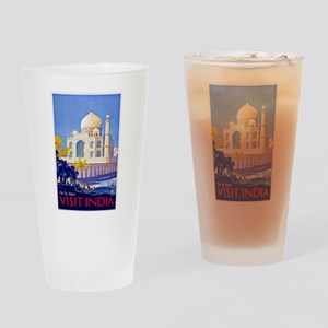 India Travel Poster 13 Drinking Glass