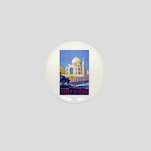 India Travel Poster 13 Mini Button