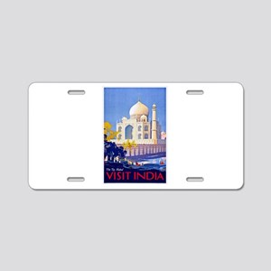 India Travel Poster 13 Aluminum License Plate