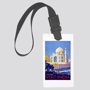 India Travel Poster 13 Large Luggage Tag