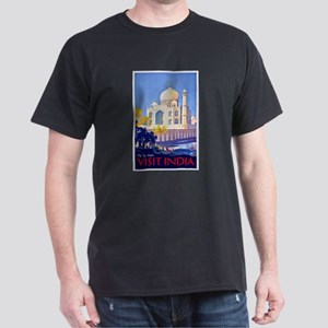 India Travel Poster 13 Dark T-Shirt
