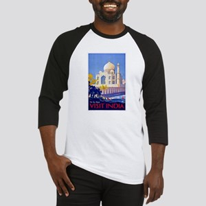 India Travel Poster 13 Baseball Jersey