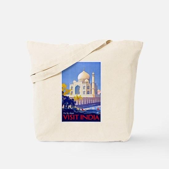 India Travel Poster 13 Tote Bag
