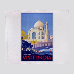 India Travel Poster 13 Throw Blanket