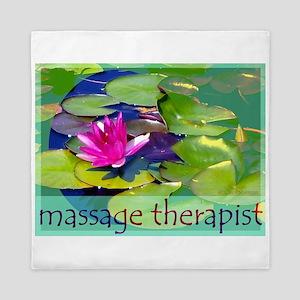 Massage Therapist / Waterlily Queen Duvet