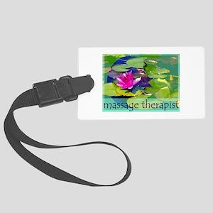 Massage Therapist / Waterlily Large Luggage Tag