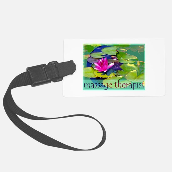 Massage Therapist / Waterlily Luggage Tag