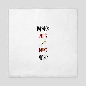 Make Art Not War Queen Duvet