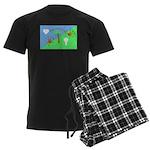 Flag Men's Dark Pajamas