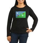 Flag Women's Long Sleeve Dark T-Shirt