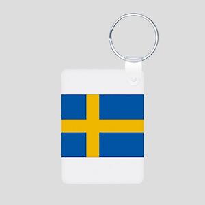 Sweden Aluminum Photo Keychain