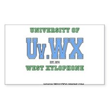 Univ. of West Xylophone Sticker (Rectangle)