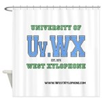 Univ. of West Xylophone Shower Curtain