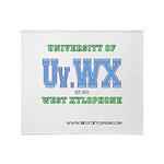 Univ. of West Xylophone Throw Blanket