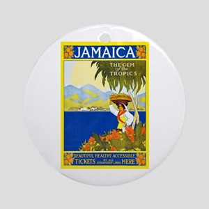 Jamaica Travel Poster 2 Ornament (Round)
