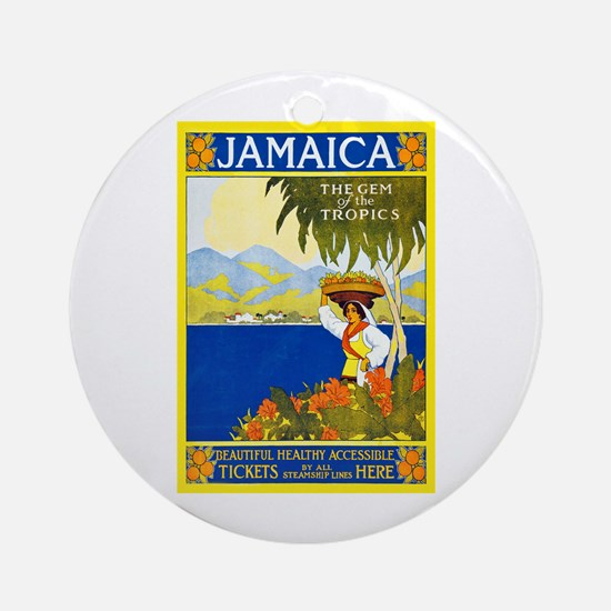 Jamaica Travel Poster 2 Ornament (Round)
