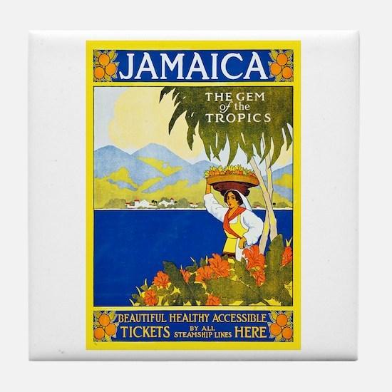 Jamaica Travel Poster 2 Tile Coaster