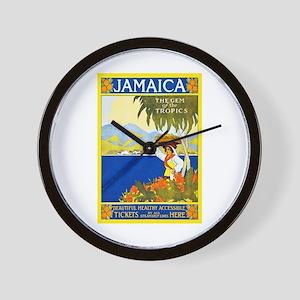 Jamaica Travel Poster 2 Wall Clock