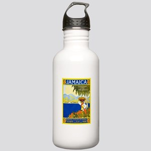 Jamaica Travel Poster 2 Stainless Water Bottle 1.0