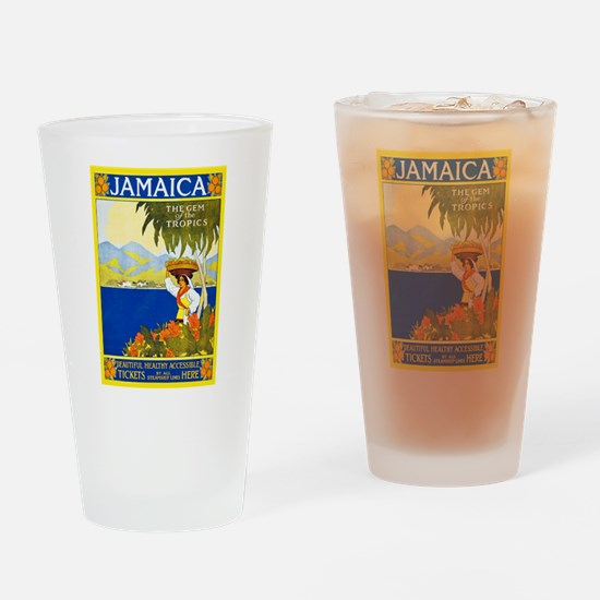 Jamaica Travel Poster 2 Drinking Glass