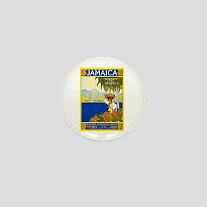 Jamaica Travel Poster 2 Mini Button