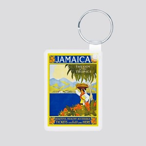 Jamaica Travel Poster 2 Aluminum Photo Keychain