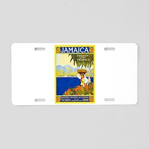 Jamaica Travel Poster 2 Aluminum License Plate