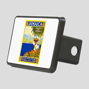 Jamaica Travel Poster 2 Rectangular Hitch Cover