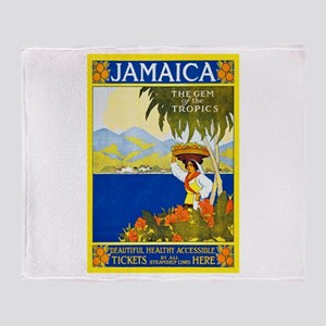 Jamaica Travel Poster 2 Throw Blanket