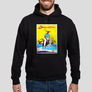 Jamaica Travel Poster 1 Hoodie (dark)