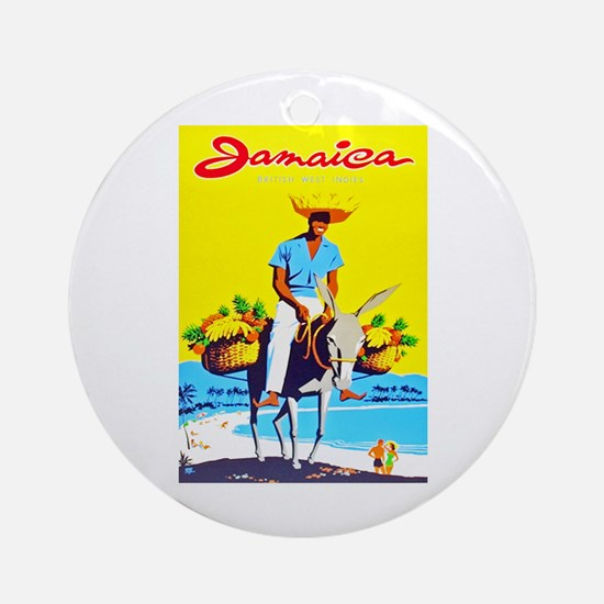 Jamaica Travel Poster 1 Ornament (Round)